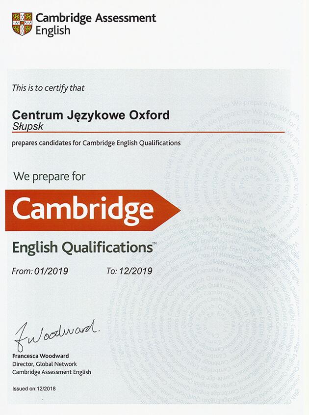Kursy językowe z przygotowaniem do egzaminów Cambridge Assessment English
